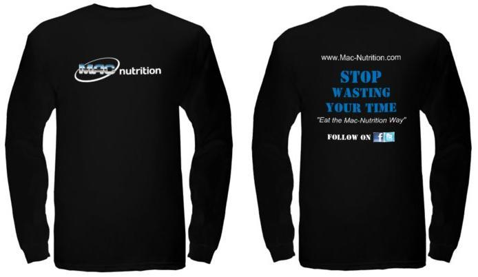 Black Long Sleeve Nutrition T-shirt