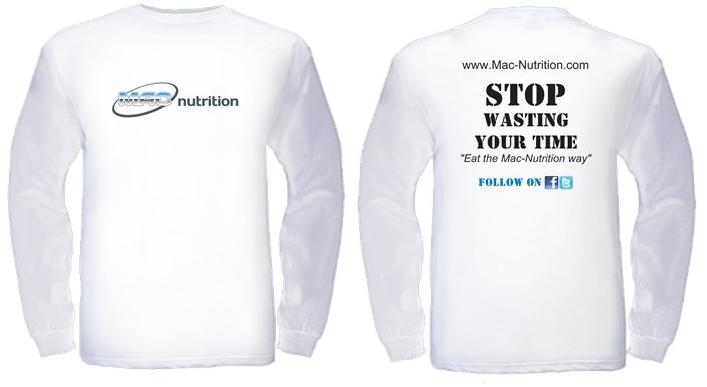White Long Sleeve Nutrition T-shirt