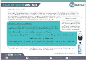 Calculate Your Own Sweat Rate