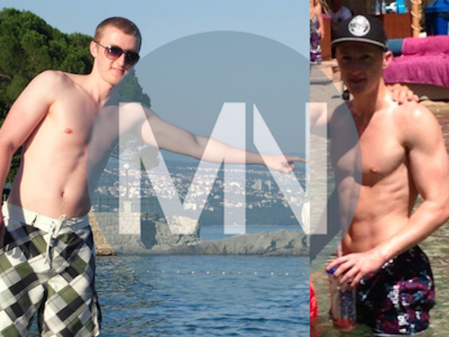 Physique before and after nutrition